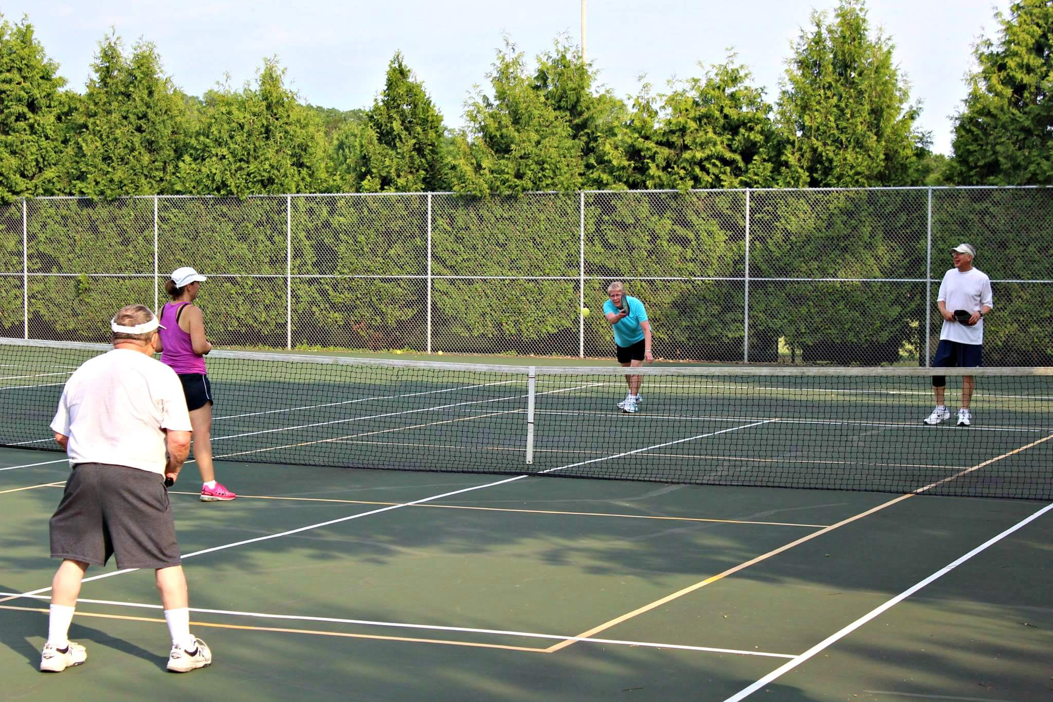 Pickleball players, Summer 2016. Photo by Christopher Rabuck.
