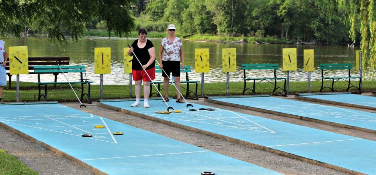 Shuffleboard players, Summer 2016. Photo by Christopher Rabuck.